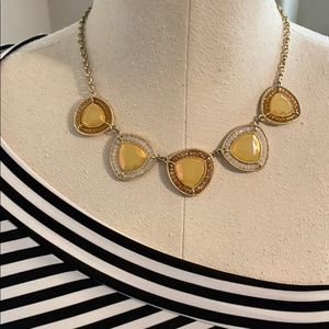 Gold tone beaded necklace